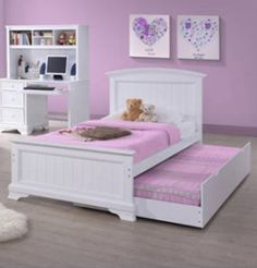 Better Homes and Gardens Kids Sebring Trundle Bed, White