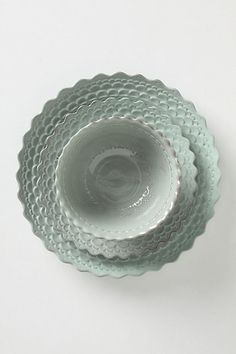 new dinnerware in berks?  Piecrust Dinner Plate - Anthropologie.com