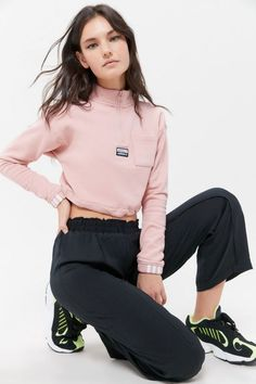 Those iconic three stripes and trefoil logo have topped adidas sneakers, tees, hoodies + so much more for over 60 years. Nike, Urban Outfitters, Fitness Models, Sweatshirts, Hoodies, How To Wear, Clothes, Style, Yoga Kids