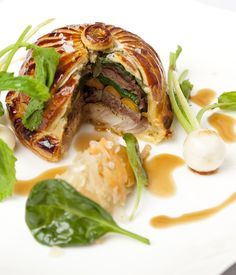 Braised, tender ox cheek is encased in pastry in this stunning pithivier recipe from Colin McGurran.