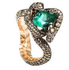 Medusa's Hair Snake Ring by Tomasz Donocik (4 Elements Collection)