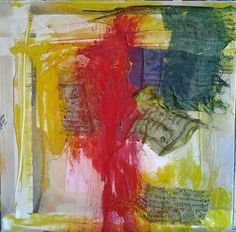 liz doyle ritual and prayer mixed media including prayer flag fragments 50cm sq