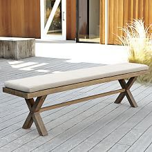 Jardine Bench Cushion  a long bench at a larger rectaunglar or extension table is a fun look