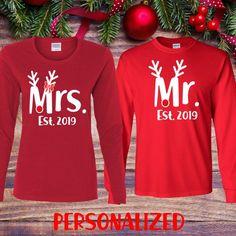 Couples shirts - Mr Mrs shirts - Hubby wifey shirts - Valentine shirt -  Valentine s gift - His and hers shirts - Long sleeve shirts cd2d7e1fc