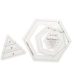 Quilt Sense Hexagons & 60 Degree Triangles- 3 Sizes