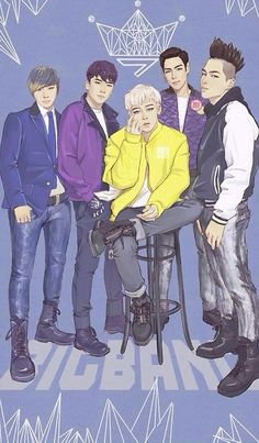 tabichoomsalot: One of the coolest bigbang fanart ive ever seen Cr: goes to owner of pic