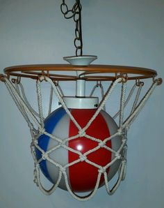 Vintage Basketball 1971 ABA NBA Hoop Net Lamp Hanging Light Fixture Glass  Globe. jo eyer · Stuff · Vtg 90s Champion ... 67b564856