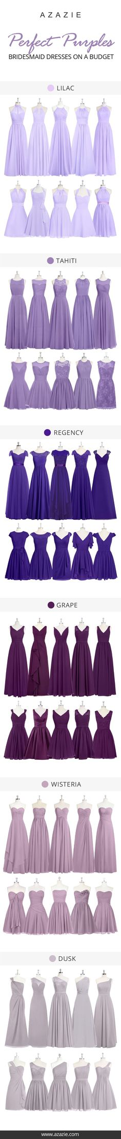 Bridesmaid dresses Azazie is the online destination for special occasion dresses. Our online boutique connects bridesmaids and brides with over 400 on-trend styles, where each is available in colors. Bridesmaid Dress Colors, Wedding Bridesmaid Dresses, Wedding Attire, Wedding Gowns, Wisteria Bridesmaid Dresses, Wedding Bands, Burgundy Bridesmaid, Wedding Ceremony, Purple Wedding