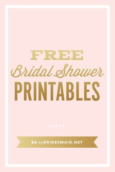 Here Are Some Bridal Shower Templates That You Wont Believe Are