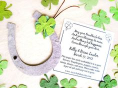 160 Lucky in Love Wedding Favors - Seed Paper Clovers and Plantable Paper Horseshoes via Etsy