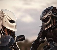Predator motorcycle helmets These are pretty sick