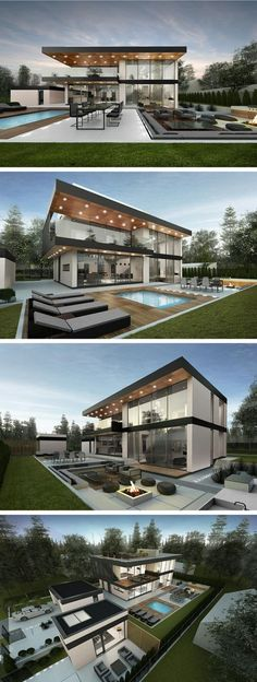 modern house in Stockholm by Ng architects www.lt: modern house in Stockholm by Ng architects www. Casas Containers, House Goals, Home Fashion, Modern House Design, Luxury Modern House, Modern Glass House, Glass House Design, Modern Homes, House Colors