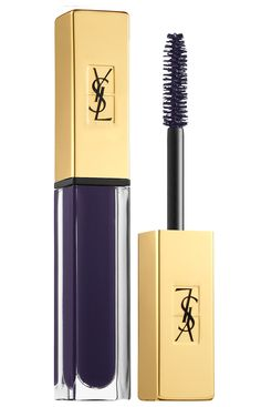 """Yves Saint Laurent """"Mascara Vinyl Couture"""" in Aubergine. A revolutionary, intense, and super shiny formula that gives lashes length, volume, and curl with deep, saturated color."""