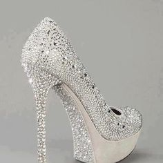 cinderella bridal heels.  What can i say .Bling bling, Hello !  Comment by Peter Greenaway at The Wedding Boutique, www.bridalshoesuk.co.uk