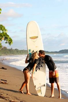 Romantic surf getaway anybody?    #surfcamp #costarica #dominical #surfvacation   www.sunsetsurfdominical.com