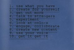 unicornology:  notes to self / get yours zine