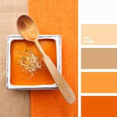 Tomato soup orange monochromatic color scheme