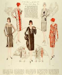 What the modern girl was wearing in the 1920's.