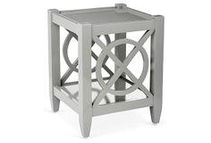 "Alistair Square Table, Gray on OneKingsLane.com   $219 tropical hardwood  Size:16""W x 16""D x 20""H Color:gray"