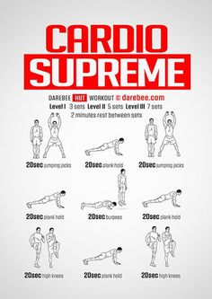 Studies show how important HIIT training is for a healthy body. Try a fat burning HIIT workout today and get your body in the best shape of its life. Kardio Workout, Mens Cardio Workout, Workout Fitness, Cardio Hiit, Cardio Routine, Yoga Fitness, Hiit Workout At Home, Cardio Workout At Home, At Home Workouts