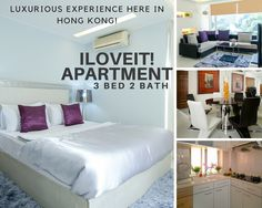 Hong Kong Awaits You!  Come and stay in this well-designed apartment, iLOVEIT!  This 3bed/2bath apartment has it's elegantly designed interior which a perfect place to relax and enjoy with your family and friends!