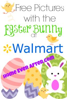 Free Pictures with the Easter Bunny at Walmart from Home Ever After. http://www.homeeverafter.com/free-easter-bunny-pictures-walmart/ #HomeEverAfter #Easter