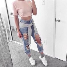 Immagine di fashion, jeans, and outfit