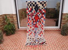 boucherouite rug/moroccan berber vintage handmade by moroccowool Berber Rug, All Craft, Carpet Runner, Used Clothing, Moroccan, Ladder Decor, Rugs, Crafts, Handmade