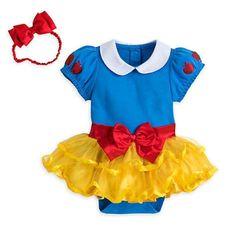 M 8-10 Snow White Costume Dress Girls Childs Enchanted Princess S 4-6 L 12-14