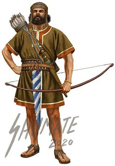 Judean Archer by JohnnyShumate on DeviantArt Ancient Armor, Cradle Of Civilization, Bible Illustrations, Ancient Near East, Sword And Sorcery, Bronze Age, Ancient Civilizations, Ancient History, Archaeology