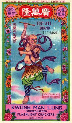 Chinese Devil - Firecracker Brick Label by Aeron Alfrey, via Flickr