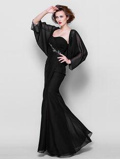 Trumpet/Mermaid Strapless Floor-length Chiffon Mother of the Bride Dress (967244) - USD $119.99