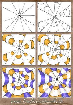op art kegler - www.FruBilledkunst.dk