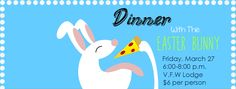 Dinner with the Easter Bunny, community event, Hilton Parma Recreation