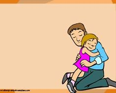 You can use this Powerpoint Template on Father's day #Dad #hug