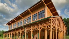 From bold structural glulam designs to striking textured wall and ceiling schemes, these award-winning building projects showcase the design possibilities using wood. Cabin Design, Wood Design, Wood Work, Pavilion, Building Design, Multi Story Building, Woodworking, Mansions, Architecture