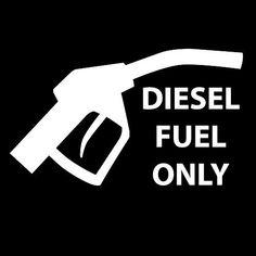 Diesel Fuel Only Car Fuel Tank Cap Lid Cover Vinyl Sticker Warning Decal  Osarix