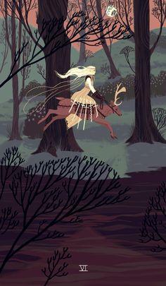 Illustration by Sara Kipin Art And Illustration, Fairy Tale Illustrations, Botanical Illustration, Sara Kipin, Bel Art, Doodle Drawing, Art Magique, Arte Fashion, Animation