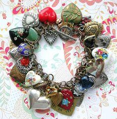 Just hearts charm bracelet | Flickr - Photo Sharing!
