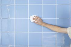 You may think dark or dingy tile and grout is beyond hope, but the right products and this easy cleaning routine, you can make your dirty grout white again. Diy Cleaning Products, Cleaning Solutions, Cleaning Hacks, Green Cleaning, Spring Cleaning, Cleaning Appliances, Network For Good, Grout Cleaner, Household Cleaners