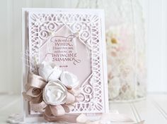 Card Making Ideas by Becca Feeken usingQuietfire Design - In the Midst of WinterSpellbinders Labels 52 Decorative Accents,Spellbinders Imperial Square,Spellbinders (Contour Die - Layered Blooms- full supply list at www.amazingpapergrace.com