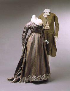 Dress (Round Gown) ca. 1795