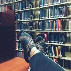Day 14: first late night at the library of the semester, not too many brave souls here tonight #usf #chacos #library #studymylifeaway #sockos