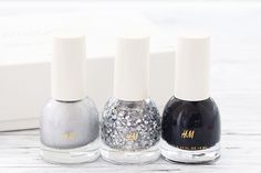 "Holographic Nail Polishes by H&M: H&M Beauty «Heaven Sent» Nail Colour Trio feat. ""Space Race"", ""Prismatic"" and ""Neo Noir"" #HMBeauty"