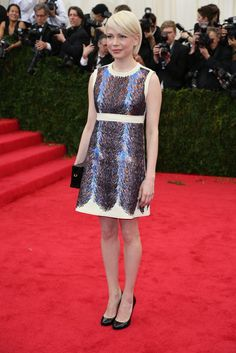Met Ball Gala Red Carpet Arrivals - 2014 - Dress Code - White Tie & Tails . . . Michelle Williams in Louis Vuitton