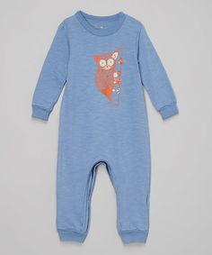 Another great find on #zulily! Dusty Blue Tarsier Playsuit - Infant #zulilyfinds