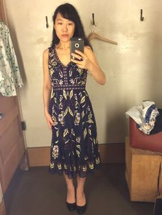 Still avoiding black.  Although this dress is a ve