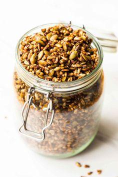 Buckwheat Granola - Grain Free and Nut Free - Nutritionist meets Chef Fall Recipes, Dog Food Recipes, Vegan Recipes, Cooking Recipes, Paleo Vegan, Nut Free, Grain Free, Dairy Free, Granola
