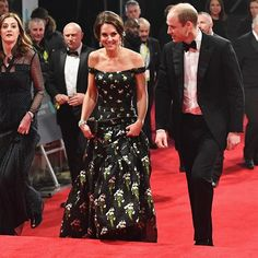 #eebaftas Guests of honour The Duke and Duchess of Cambridge arrived on the red carpet signaling the beginning of the ceremony. Kate is wearing off-the-shoulder @alexandermcqueen dress. #harpersbazaarthailand #bazaarthailand Credit: Getty  via HARPER'S BAZAAR THAILAND MAGAZINE OFFICIAL INSTAGRAM - Fashion Campaigns  Haute Couture  Advertising  Editorial Photography  Magazine Cover Designs  Supermodels  Runway Models