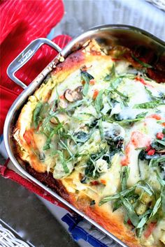 Garden lasagna, from The Curvy Carrot blog. Looks like a really good meatless recipe.